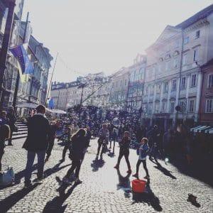 Festival de bulles dans le centre ville de Ljubljana