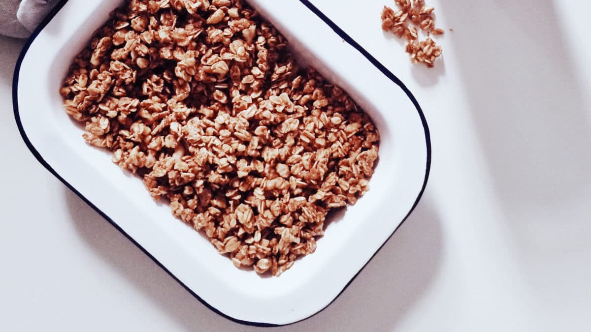 batch cooking granola recette cuisine saine naturopathie