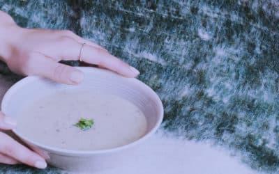 soupe crue mais chaude champignons cru recette cuisine crue crusine végétal végétarien végétarisme cuisine saine naturopathie naturopathe