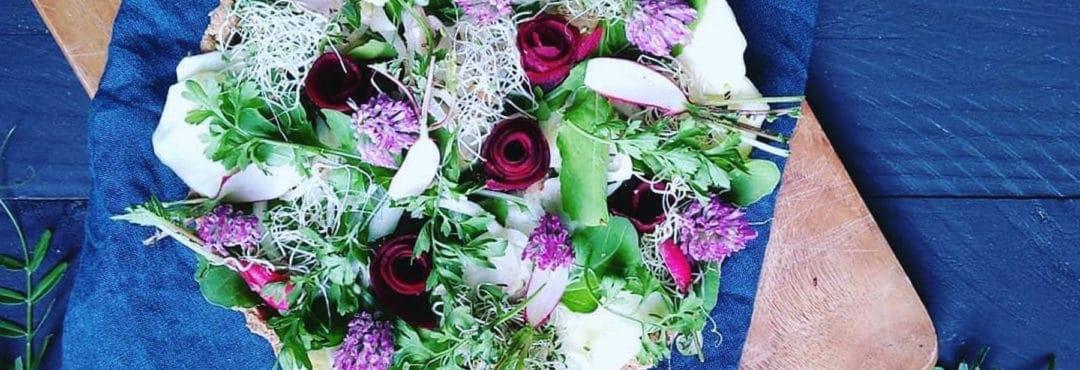 Waouh, des fleurs comestibles dans mon assiette !